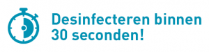 Oppervlakken desinfecteren binnen 30 seconden