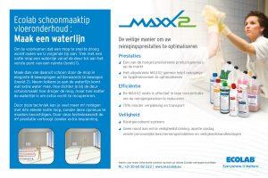 Ecolab vloeronderhoud MAXX2