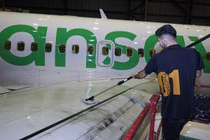Drywash: vliegtuigschoonmaak zonder sopje