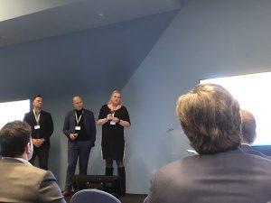 Vincent de Beer van Beercoo schoonmaakgroep, Gaby Westelaken van GWS de Schoonmaker en Karin van Elten van Glazenwasserij Van Elten