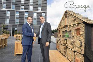 Duurzaamheid verbindt CSU en zero energy hotel Breeze