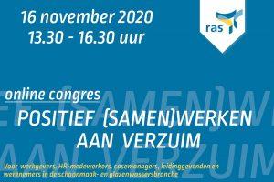 RAS organiseert congres Positief (samen)werken aan verzuim