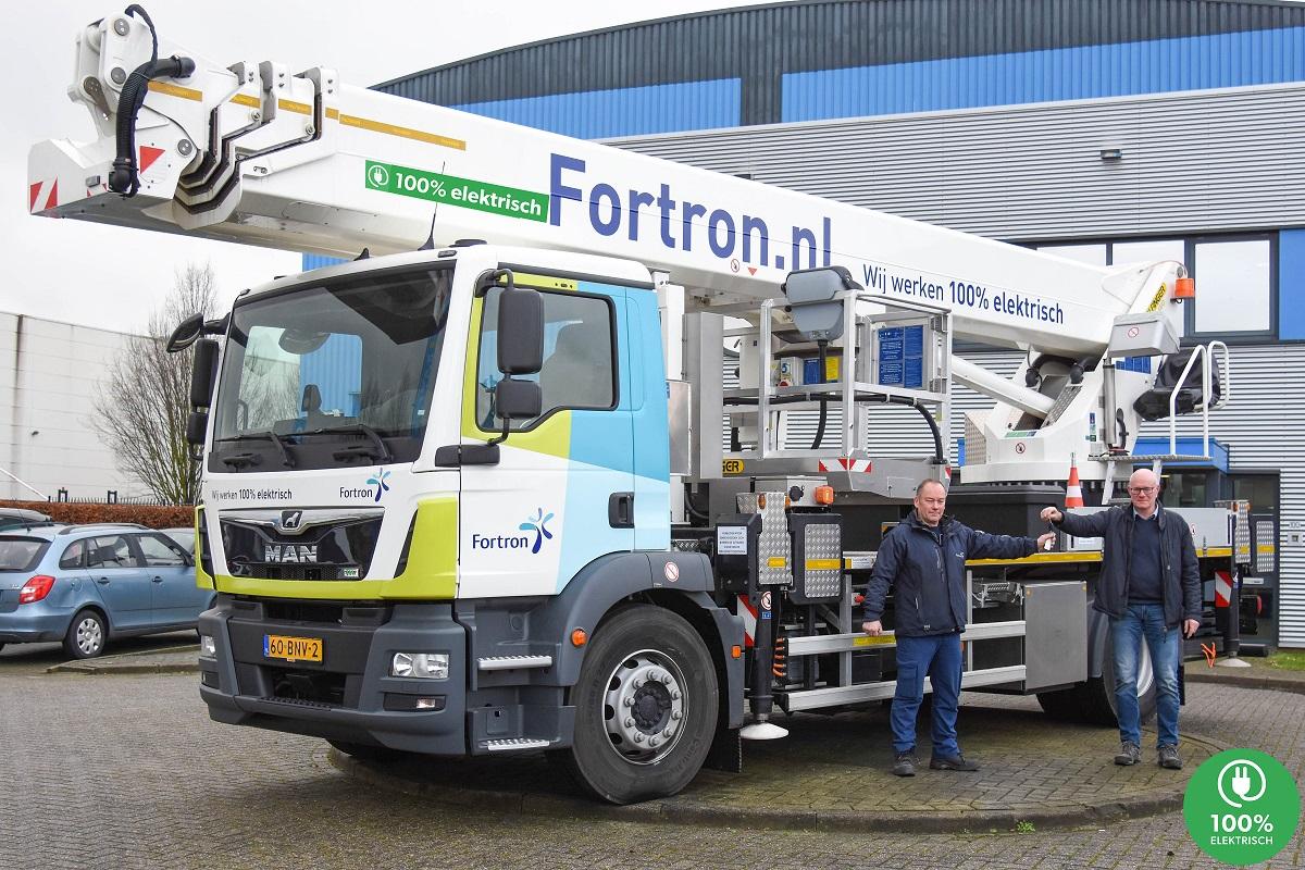 Fortron neemt 1e hybride 45-meter hoogwerker van Collé in gebruik
