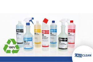 85% van CaluClean reinigingsmiddelen verpakt in gerecyclede flessen