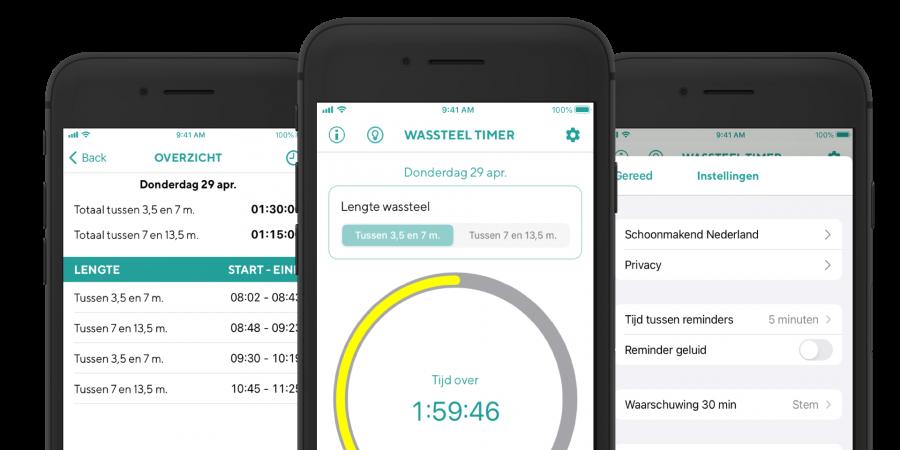 De (on)zin van de invoering van de wassteel timer app & regelgeving Wassteel timer app geïntroduceerd, niet iedereen enthousiast