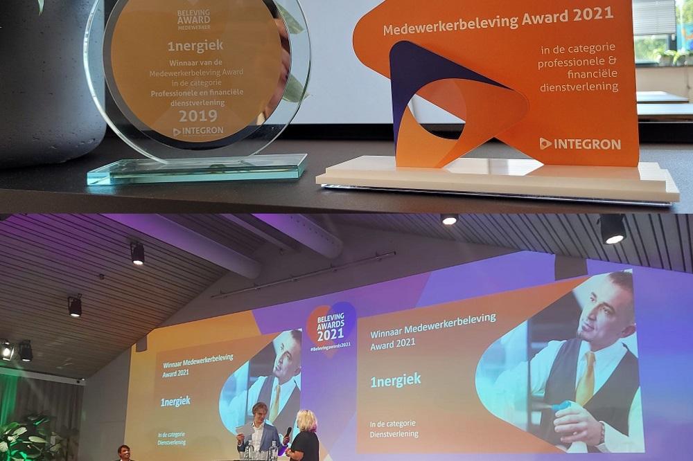 1nergiek wint Integron Medewerkerbeleving Award